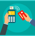 payment terminal credit card concept background vector image vector image