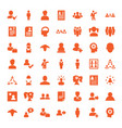 profile icons vector image vector image