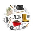 realistic garden round concept vector image