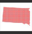 red dot map of south dakota vector image vector image
