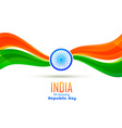 republic day design made in wave style vector image vector image