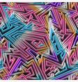 retro neon stripes seamless pattern vector image vector image