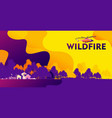 rural fire banner vector image