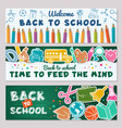 school banners for back vector image vector image