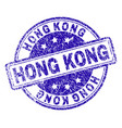 scratched textured hong kong stamp seal vector image
