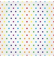 Seamless pattern with colorful polka dots vector image vector image