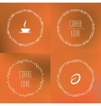 Set of coffee framework of the vines with vector image vector image