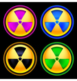 Set of colored icons radiation vector image