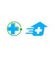 set of fast medical logo design template vector image vector image