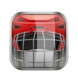 Square icon for ice hockey app or games vector image vector image