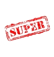 Super rubber stamp vector image vector image