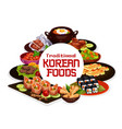 traditional korean food cuisine dishes vector image vector image