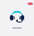 two color headphones icon from customer service vector image