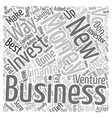 Ways To Fund Your New Business text background vector image vector image