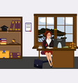 woman lawyer at her work desk beautiful young vector image