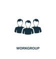 workgroup icon premium style design from teamwork vector image