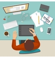 Workspace Colored Composition vector image