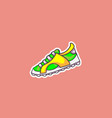 a bright sneaker vector image