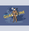 a soldier in medical mask the closure vector image