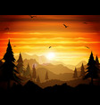 absolutely silent twilight forest vector image