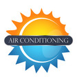 air conditioner sun and snowflake vector image vector image