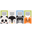 animal collection closeup faces banner vector image
