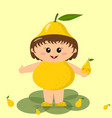 baby to the pear costume vector image vector image
