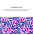 background banner with colorful hawaii leaves vector image