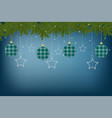 beautiful festive greeting card with decorations vector image