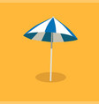 blue and white sun umbrella isolated vector image