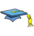 Cartoon Graduation Cap vector image vector image