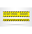 Caution danger and police tape attention