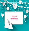 Celebration Card with Party Hats vector image