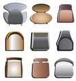 chair top view set 4 vector image