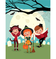 Children on Halloween party vector image vector image
