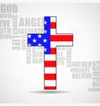 christian cross america flag on background vector image