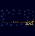 class 2021 congratulation graduate golden line vector image vector image