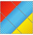 comic book colorful diagonal composition vector image vector image