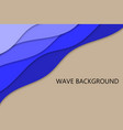 cut paper wave background vector image vector image