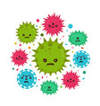 cute angry evil bad fly germ virus vector image