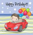 cute cartoon boy with balloon vector image