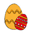 decorated egg easter related icon image vector image vector image