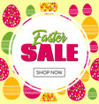 easter sale promo template vector image vector image