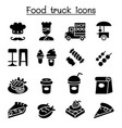 food truck icon set vector image vector image