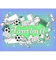 Football coloring book vector image