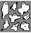 ghosts symbols vector image vector image