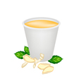 Ginger Tea with Honey in Disposable Cup vector image vector image