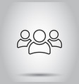 group of people icon in line style on isolated vector image vector image