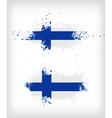 Grunge finnish ink splattered flag vector image vector image