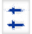 Grunge finnish ink splattered flag vector image